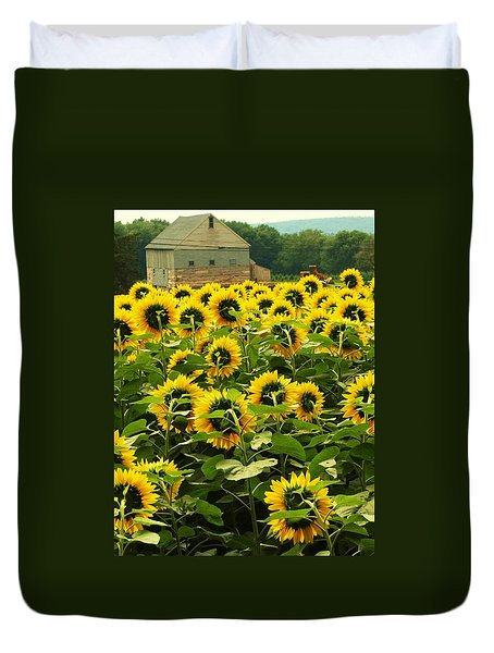 Tall Sunflowers Duvet Cover
