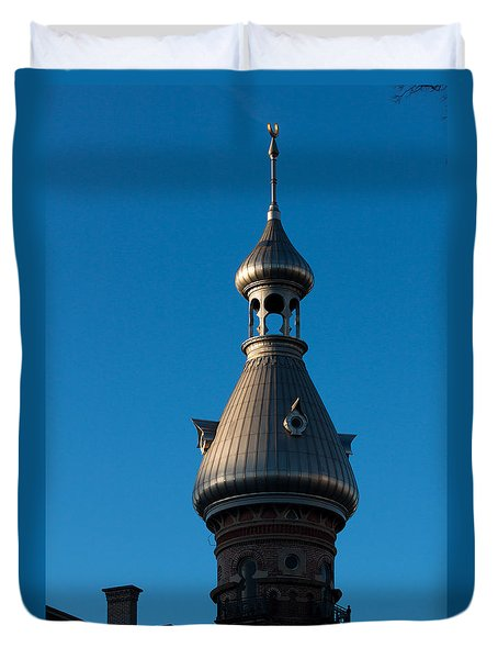 Duvet Cover featuring the photograph Tampa Bay Hotel Minaret by Ed Gleichman