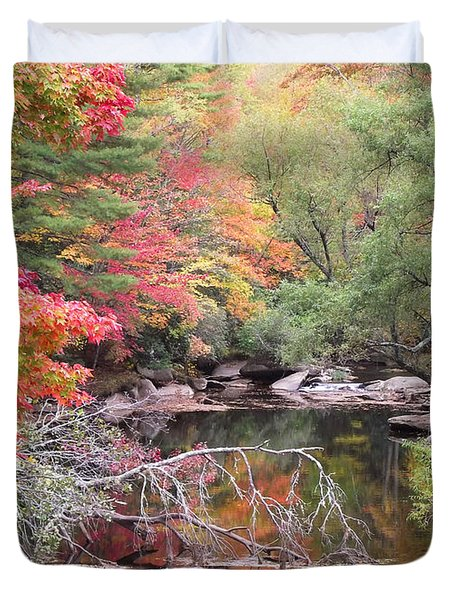 Tanasee Creek In The Fall Duvet Cover