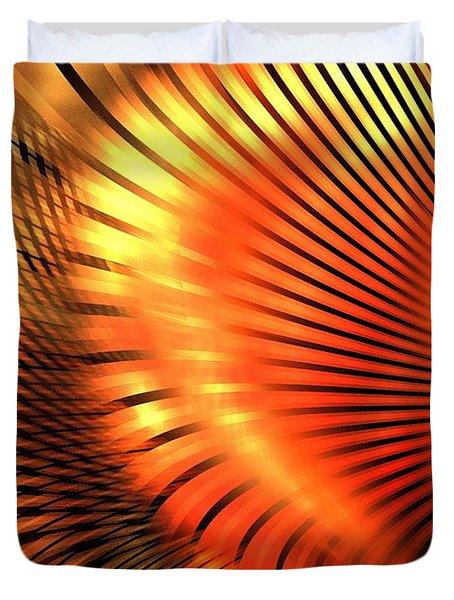 Tangerine Duvet Cover by Kim Sy Ok