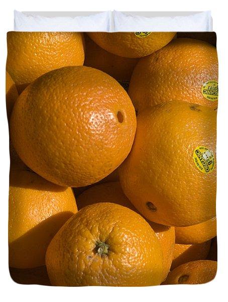 Tangerines Duvet Cover by Tim Mulina