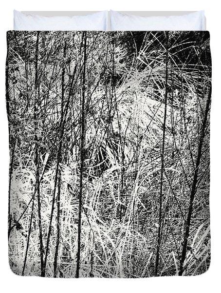 Tangled Weeds 2 Duvet Cover