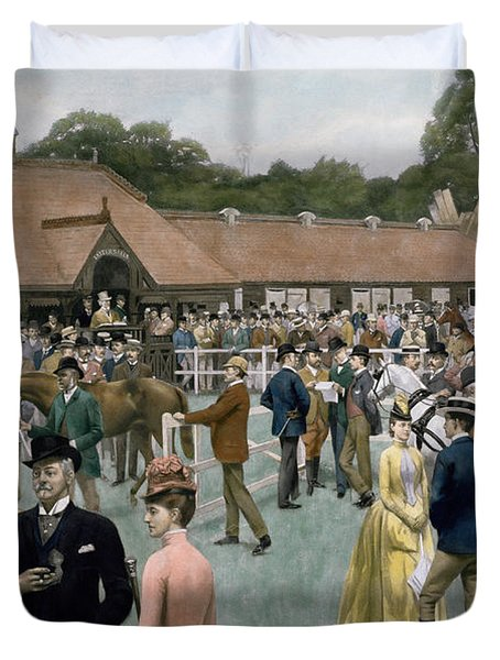 Tattersall's Newmarket Pub Duvet Cover by Isaac J Cullin and I P Mendoza