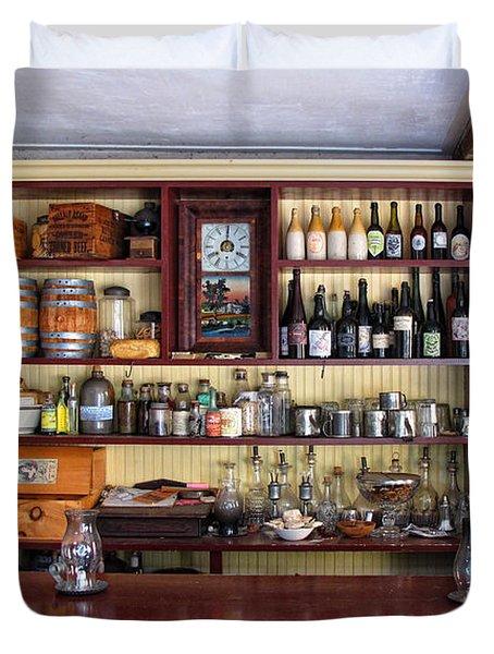 Tavern Civil War Era Duvet Cover by Dave Mills