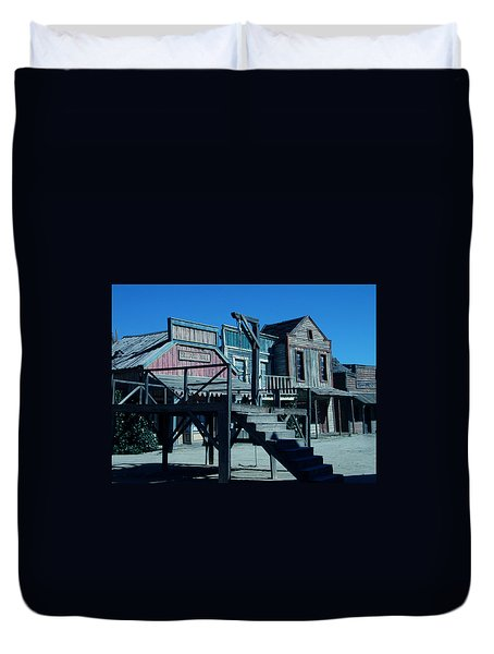 Duvet Cover featuring the photograph Taverna Western Village In Spain by Colette V Hera  Guggenheim