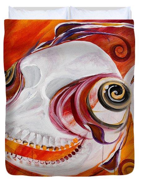 T.b. Chupacabra Fish Duvet Cover