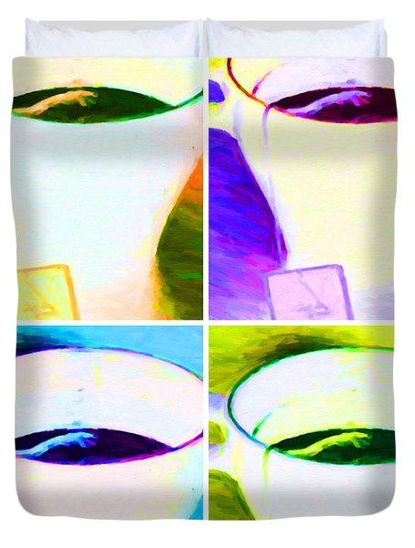 Tea Time Quiet Time - Four - V2 Duvet Cover