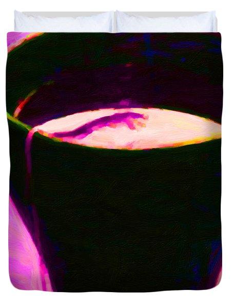 Tea Time Quiet Time - Violet Duvet Cover
