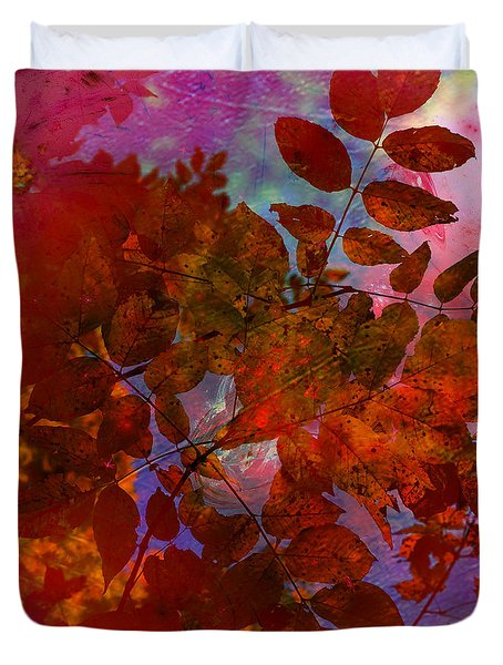 Tears Of Leaf  Duvet Cover by Jerry Cordeiro