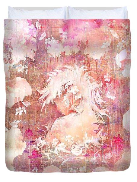Tears Of The Rain Duvet Cover by Rachel Christine Nowicki