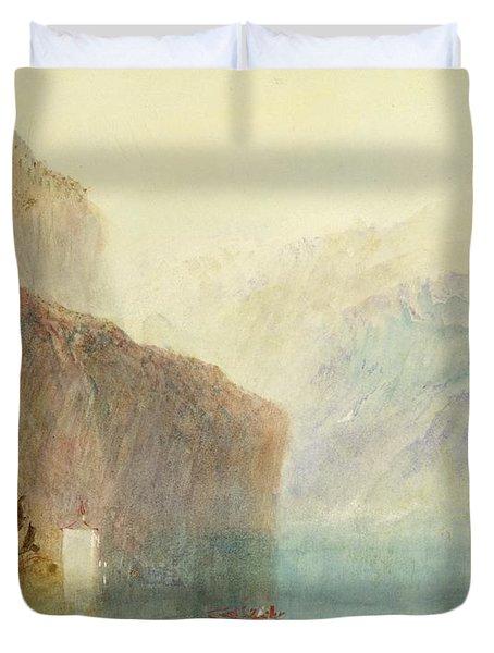 Tell's Chapel - Lake Lucerne Duvet Cover by Joseph Mallord William Turner