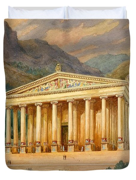 Temple Of Diana Duvet Cover by English School