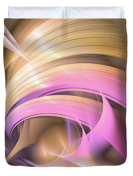 Tempus Rex - Abstract Art Duvet Cover