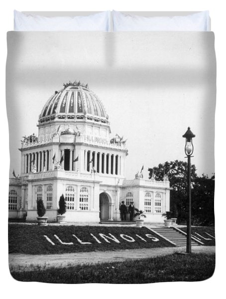 Tennessee Centennial In Nashville - Illinois Building - C 1897 Duvet Cover by International  Images