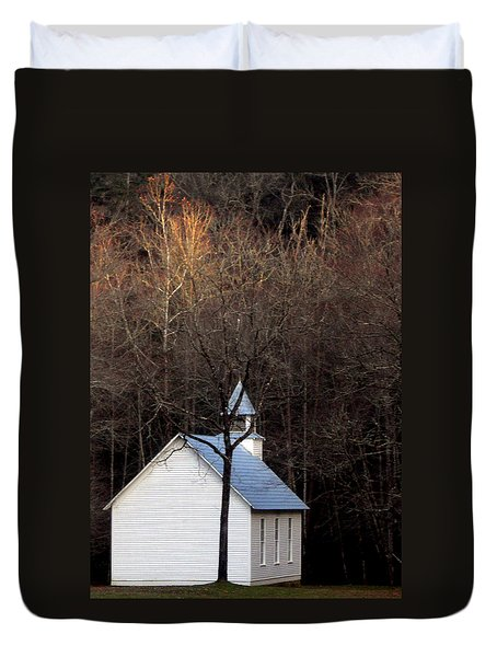 Tennessee Mountain Church Duvet Cover by Skip Willits