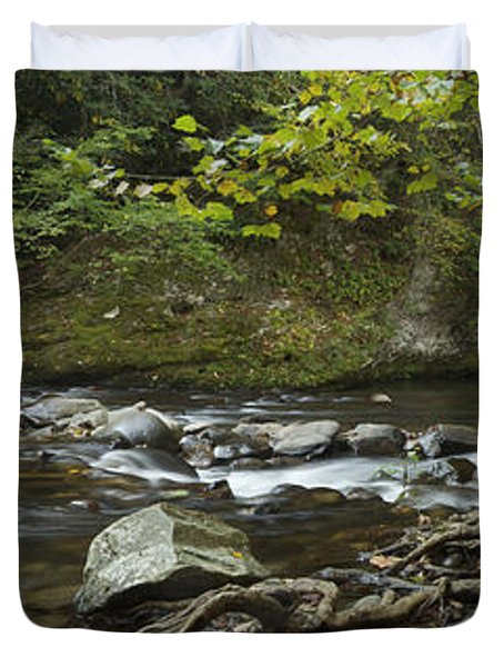 Tennessee Stream Panorama 6045 6 Duvet Cover by Michael Peychich