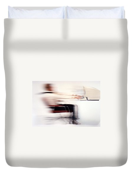 Terminal Speed Duvet Cover by Jerry McElroy