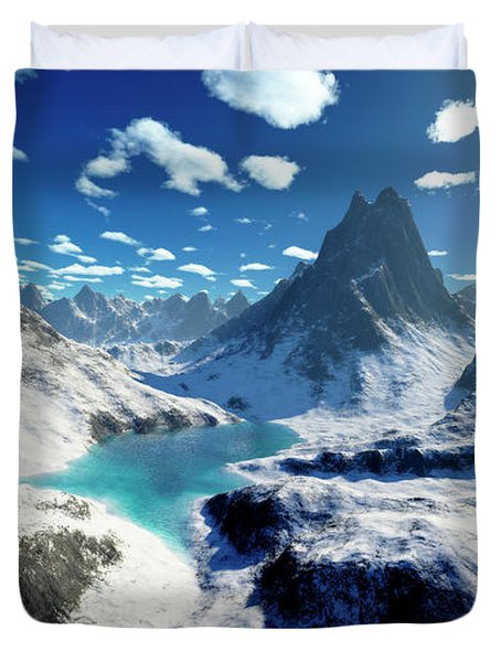 Terragen Render Of An Imaginary Duvet Cover by Rhys Taylor