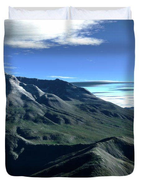 Terragen Render Of Mt. St. Helens Duvet Cover by Rhys Taylor
