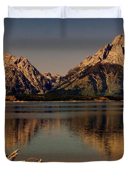 Teton Panoramic Duvet Cover by Marty Koch