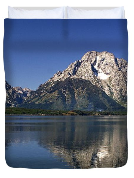 Teton Panoramic View Duvet Cover by Marty Koch