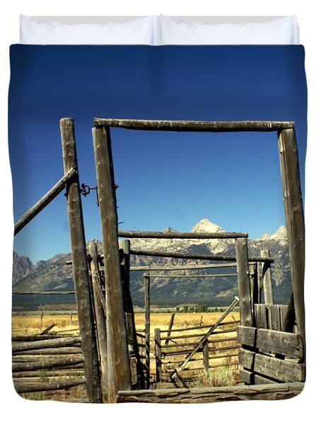 Teton Ranch Duvet Cover by Marty Koch