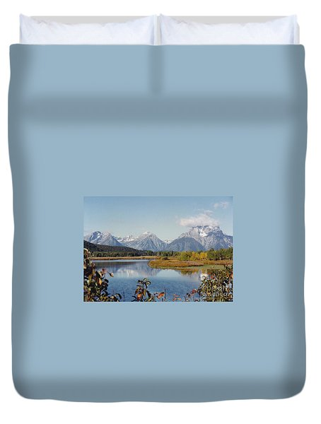 Tetons Reflection Duvet Cover
