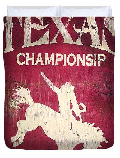 Texas Championsip Duvet Cover by Eena Bo