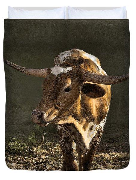 Texas Longhorn # 4 Duvet Cover by Betty LaRue