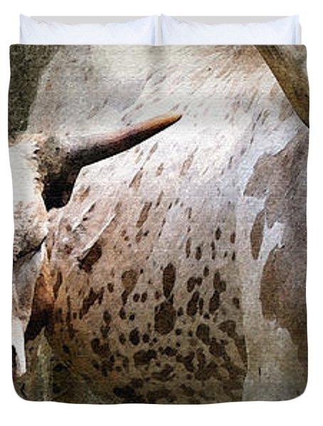 Texas Longhorns Duvet Cover by Betty LaRue