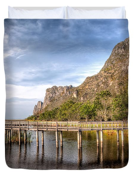Thai Park Duvet Cover by Adrian Evans