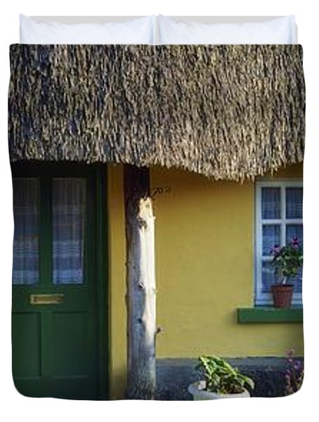 Thatched Cottage, Adare, Co Limerick Duvet Cover by The Irish Image Collection
