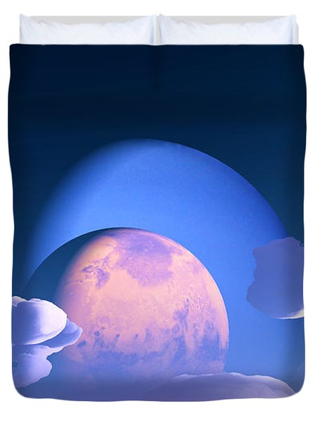 Duvet Cover featuring the digital art The Alignment... by Tim Fillingim