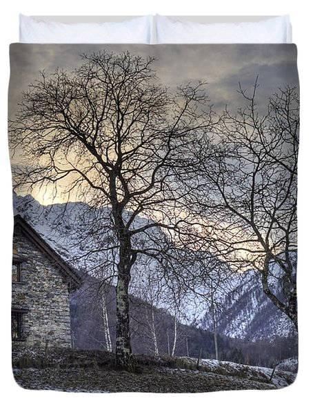 The Alps In Winter Duvet Cover by Joana Kruse