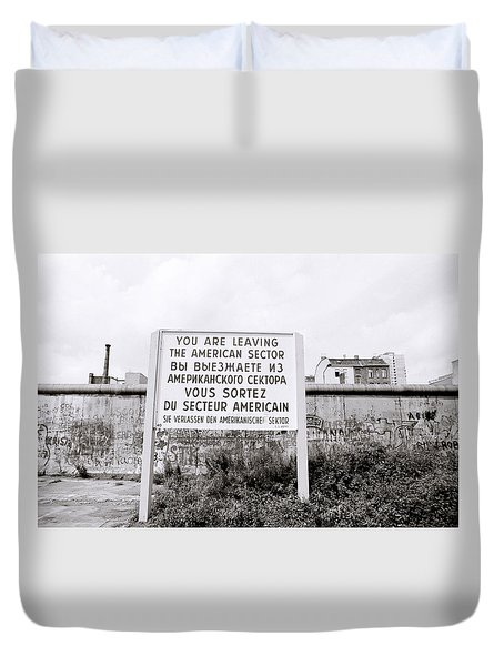 Berlin Wall American Sector Duvet Cover