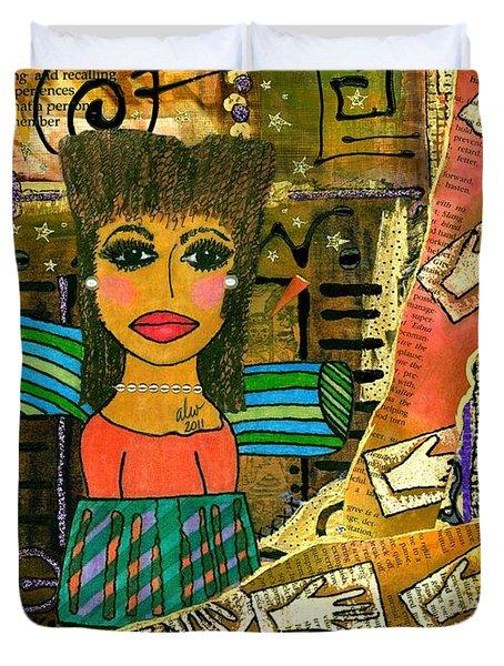 The Angel Of Fond Memories Duvet Cover by Angela L Walker