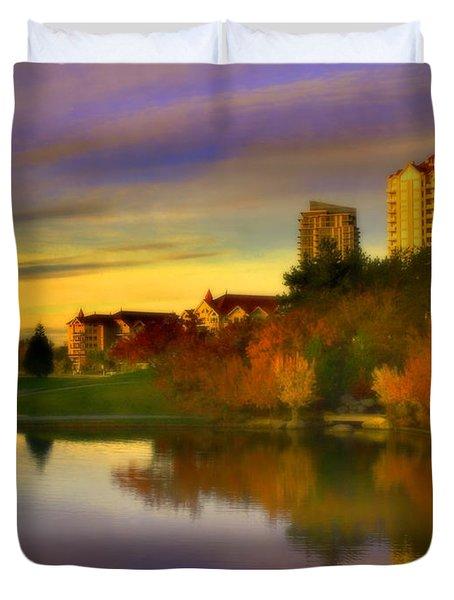 The Arrival Of Autumn Duvet Cover by Tara Turner