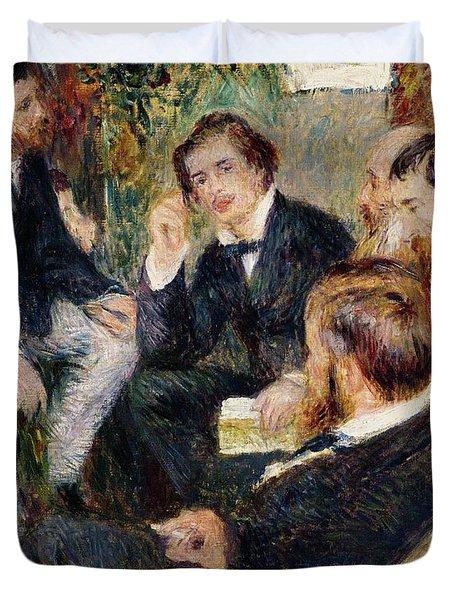 The Artist's Studio Rue Saint Georges Duvet Cover by Pierre Auguste Renoir