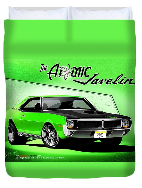 The Atomic Javelin Duvet Cover