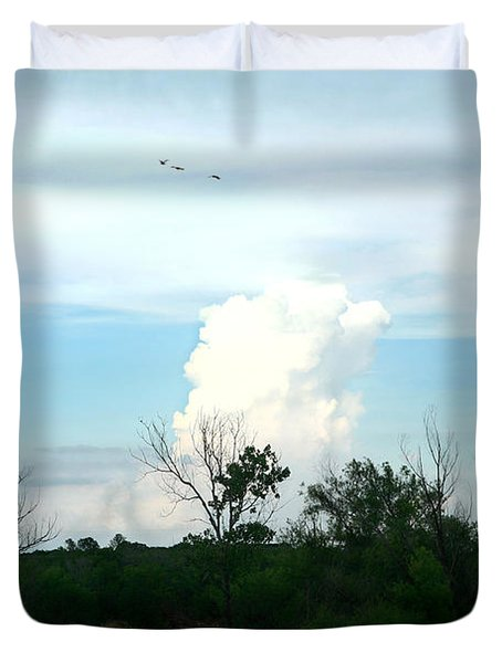Duvet Cover featuring the photograph The Back Forty by Lon Casler Bixby