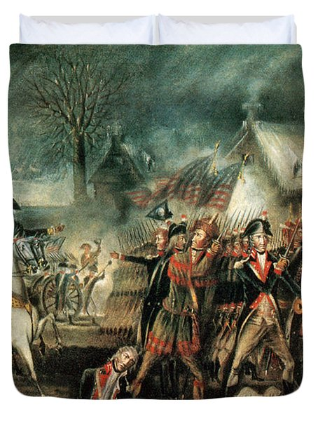 The Battle Of Trenton 1776 Duvet Cover by Photo Researchers