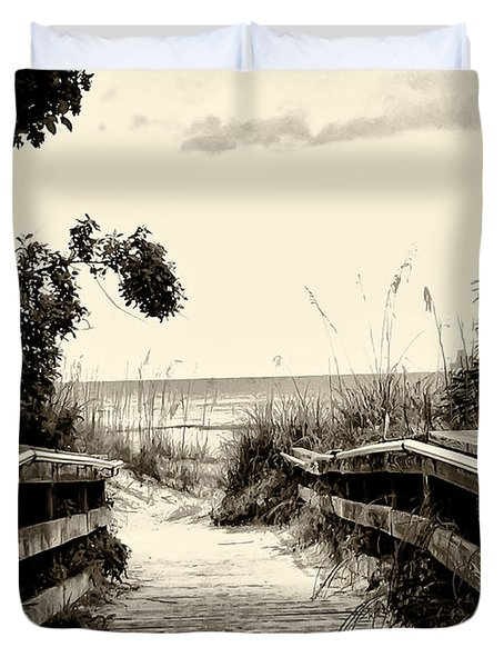 The Beach Path - Clearwater Beach Duvet Cover by Bill Cannon