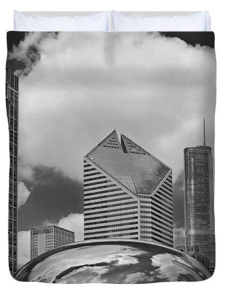 The Bean Chicago Illinois Duvet Cover