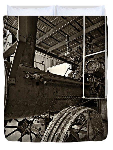 The Beast Sepia Duvet Cover by Steve Harrington