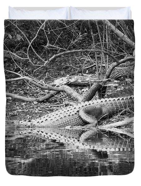 The Beast That Lives Under The Bridge Duvet Cover by Carol Groenen