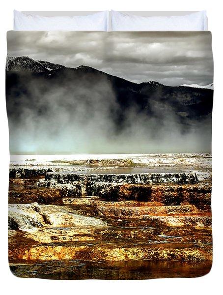 The Beauty Of Yellowstone Duvet Cover by Ellen Heaverlo