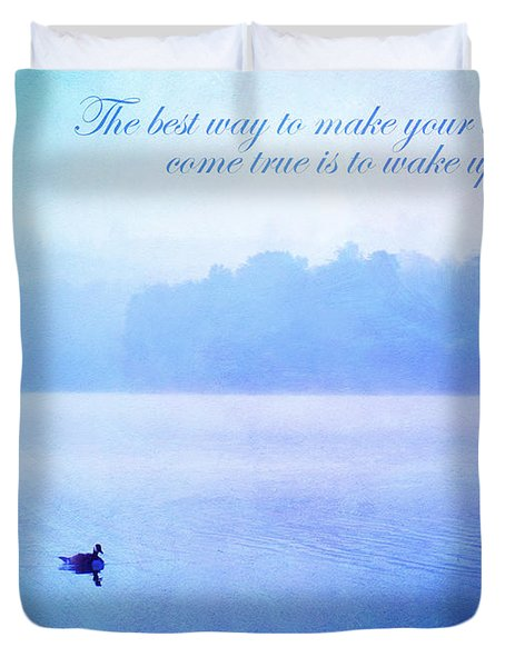 The Best Way Duvet Cover by Darren Fisher
