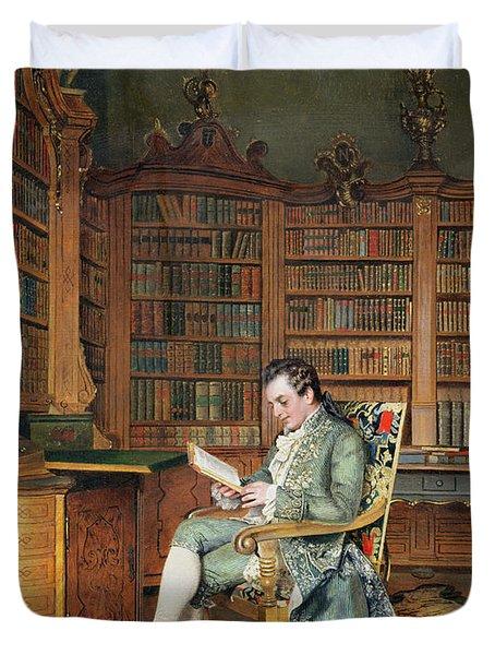 The Bibliophile Duvet Cover by Johann Hamza