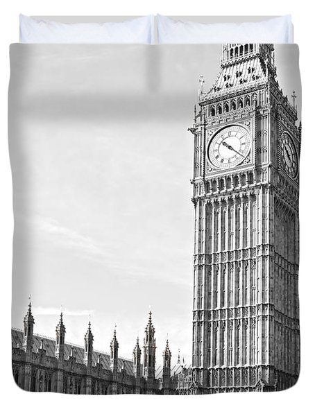 Duvet Cover featuring the photograph The Big Ben - London by Luciano Mortula