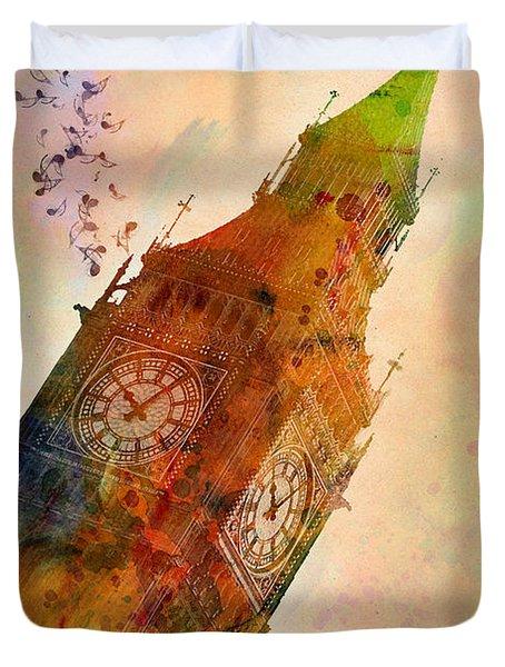 The Big Ben Duvet Cover by Mark Ashkenazi